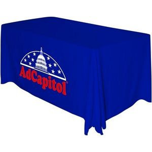 Draped 4' Sublimated Front Panel Table Throw